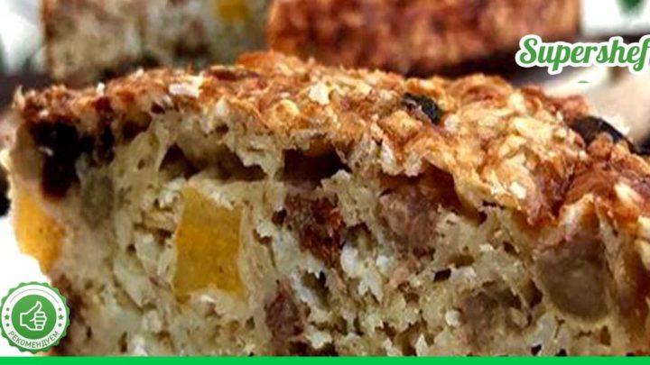 Правильное питание и сладости. Секреты приготовления диетического овсяного пирога без муки и сахара.
