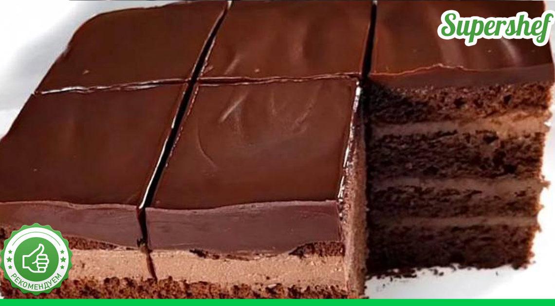 Вкуснейший шоколадный торт с творожно-шоколадной прослойкой
