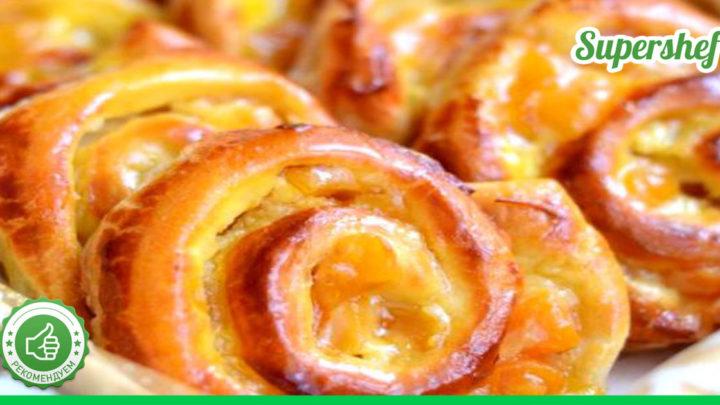 Французские булочки с заварным кремом.