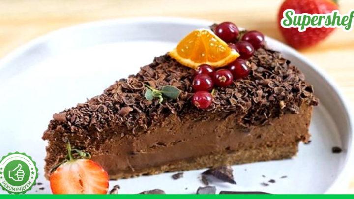 Без выпечки: готовим вкусный шоколадный чизкейк