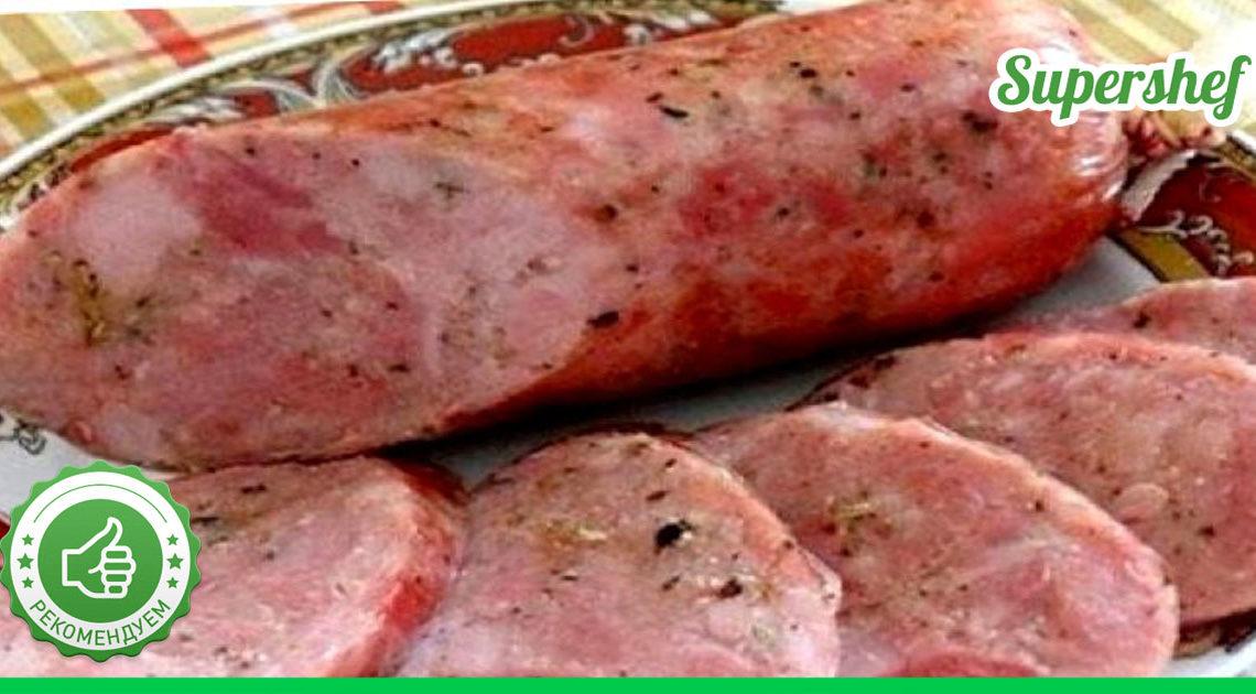 Теперь я готовлю колбасу только дома! Самый вкусный рецепт рубленной колбаски.