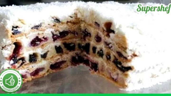 Торт «Снежная вишня»