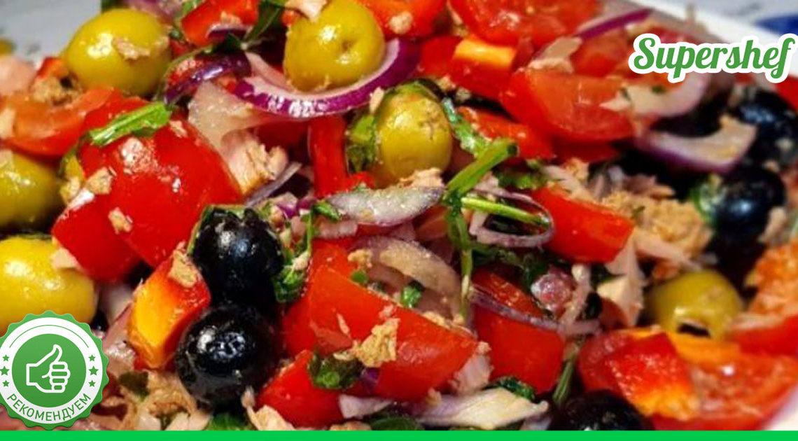 Салат из тунца с запахом лета. Вся польза и яркость овощей в одном блюде
