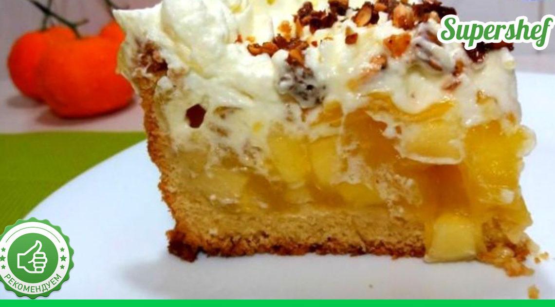 Вкусный самопечный пирог из яблок