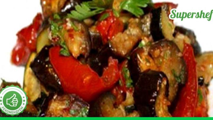 Вкуснейшие печеные овощи в соусе