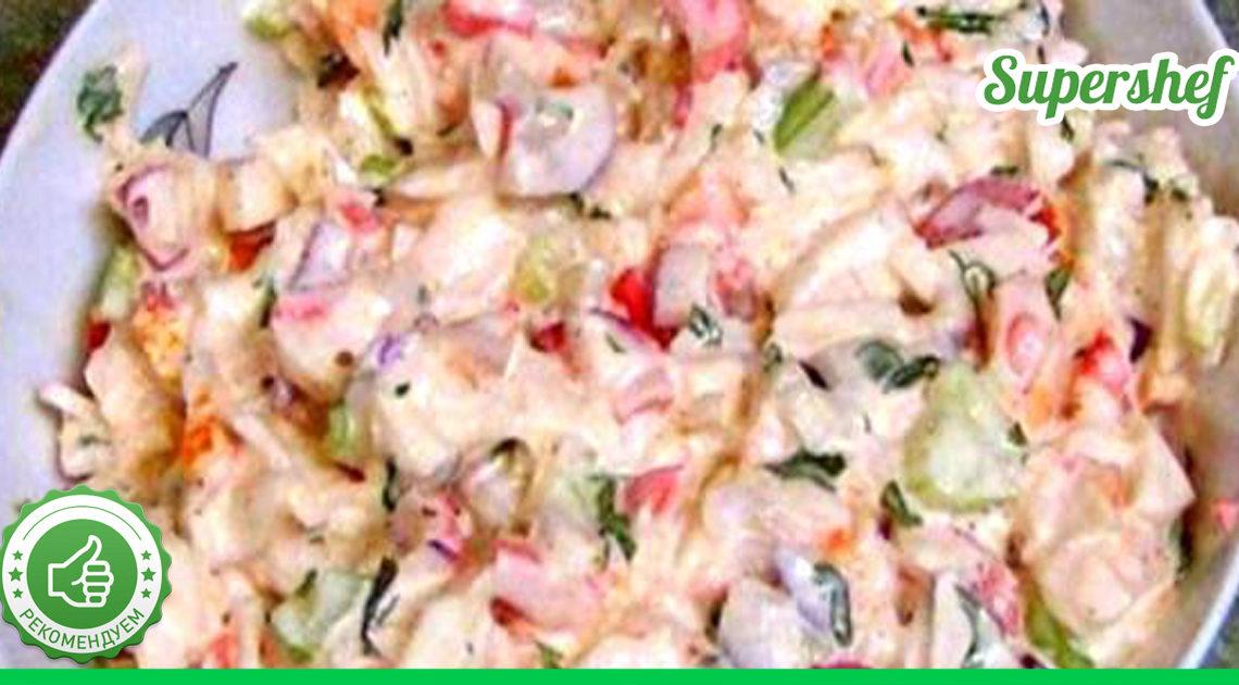 Лучший рецепт крабового салата