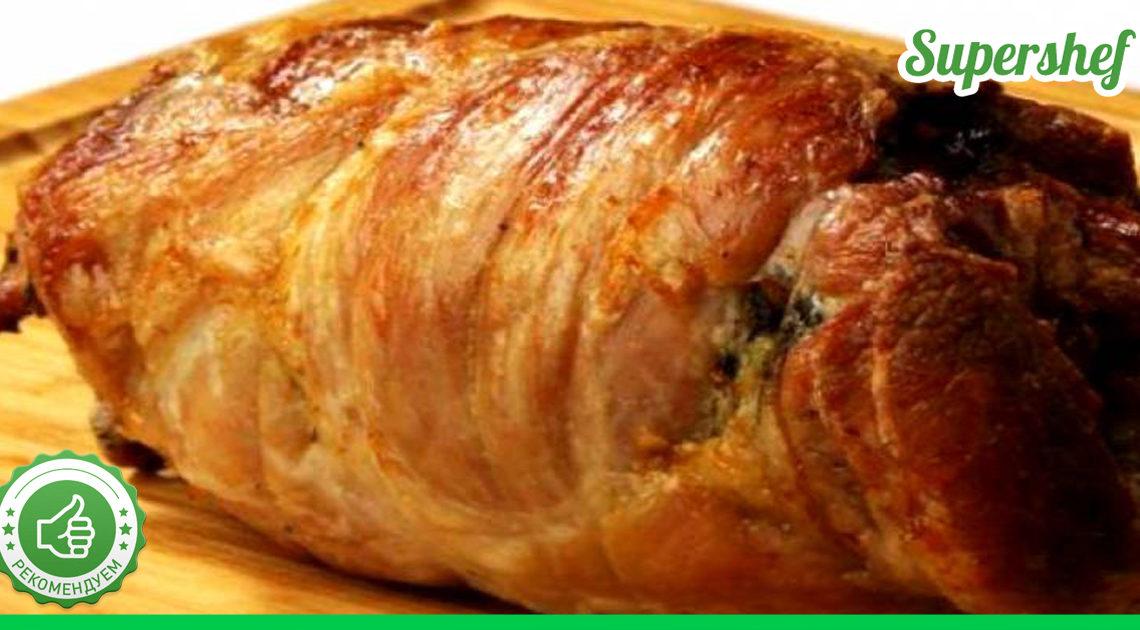 """Рецепт итальянского мясного рулета """"Поркетта""""в духовке."""