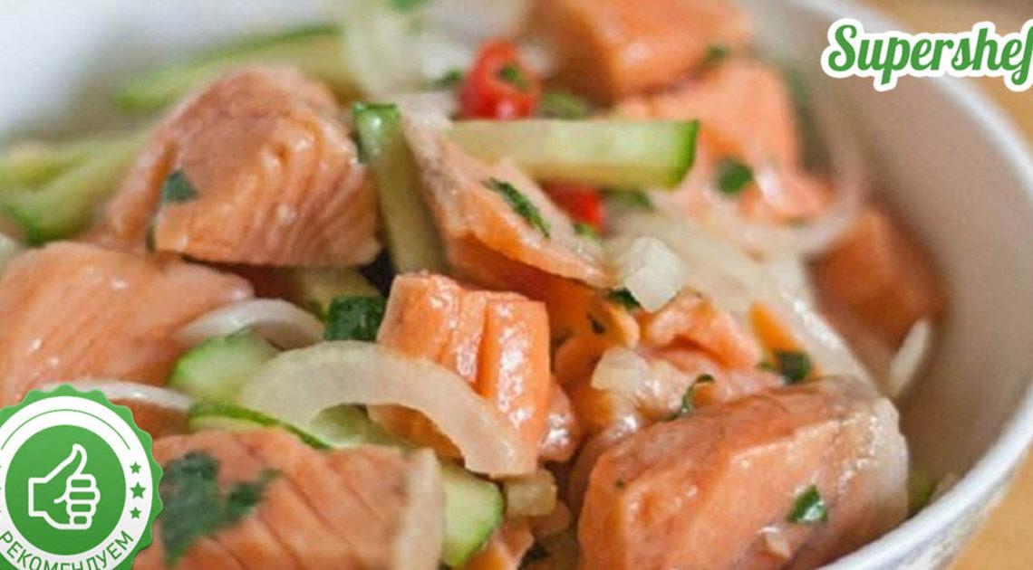 Удачный маринад: Рыбный салат по-корейски, съедается в один присест.
