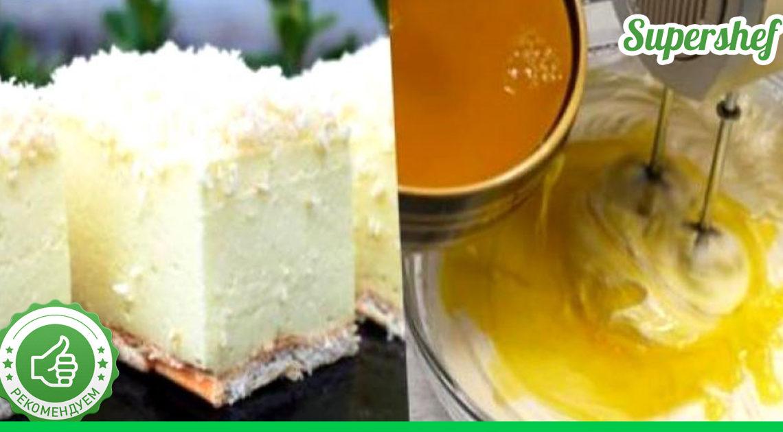 Рецепт легкого и вкусного торта без выпечки «Снежная пушинка»