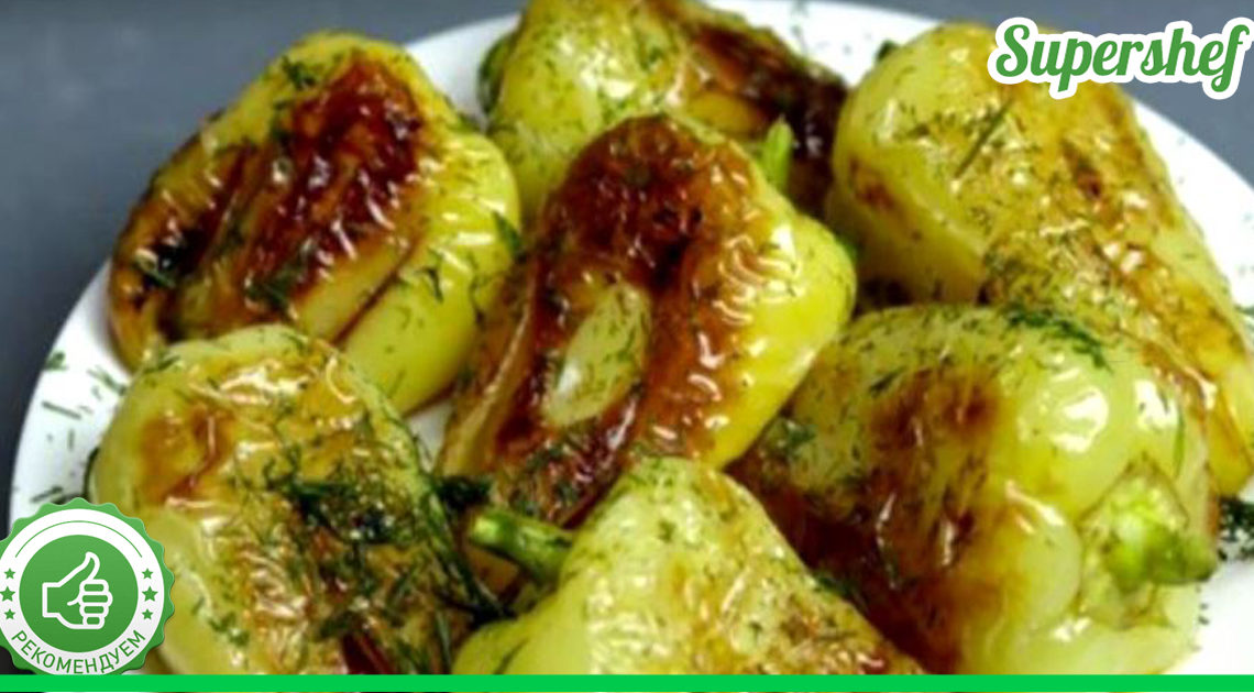 Потрясающий жареный болгарский перец с помидорами и в чесноке!