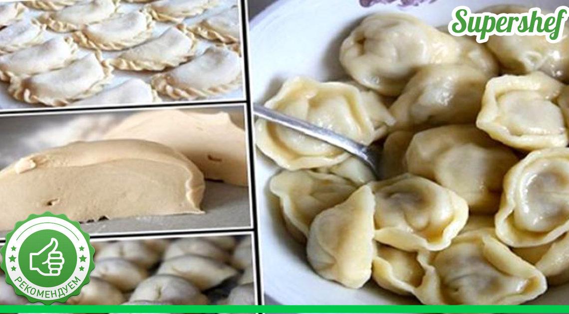 Готовим идеальное тесто на вареники или пельмени
