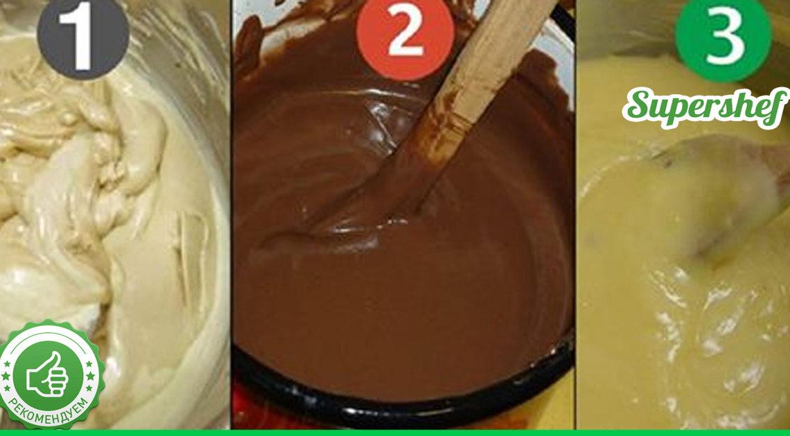 Три самых вкусных домашних крема для тортов и пирожных
