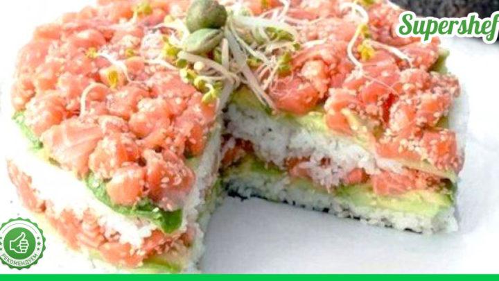Невероятный салат для фанатов Суши