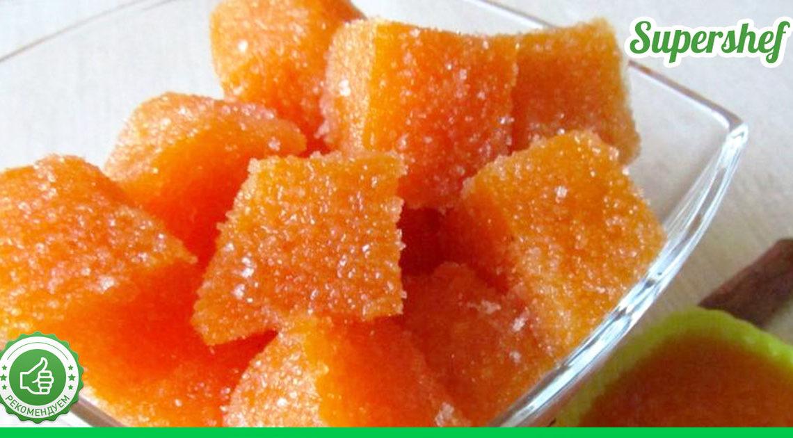 Вкуснейший тыквенный мармелад, приносящий пользу — полчаса и все готово!