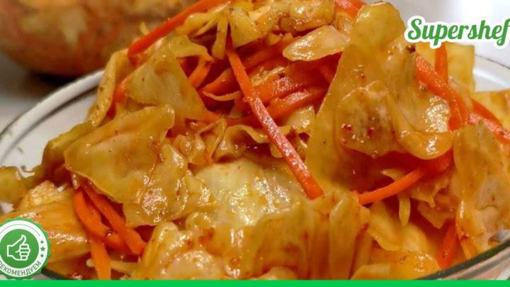 Оригинальный рецепт морковки по-корейски с капустой