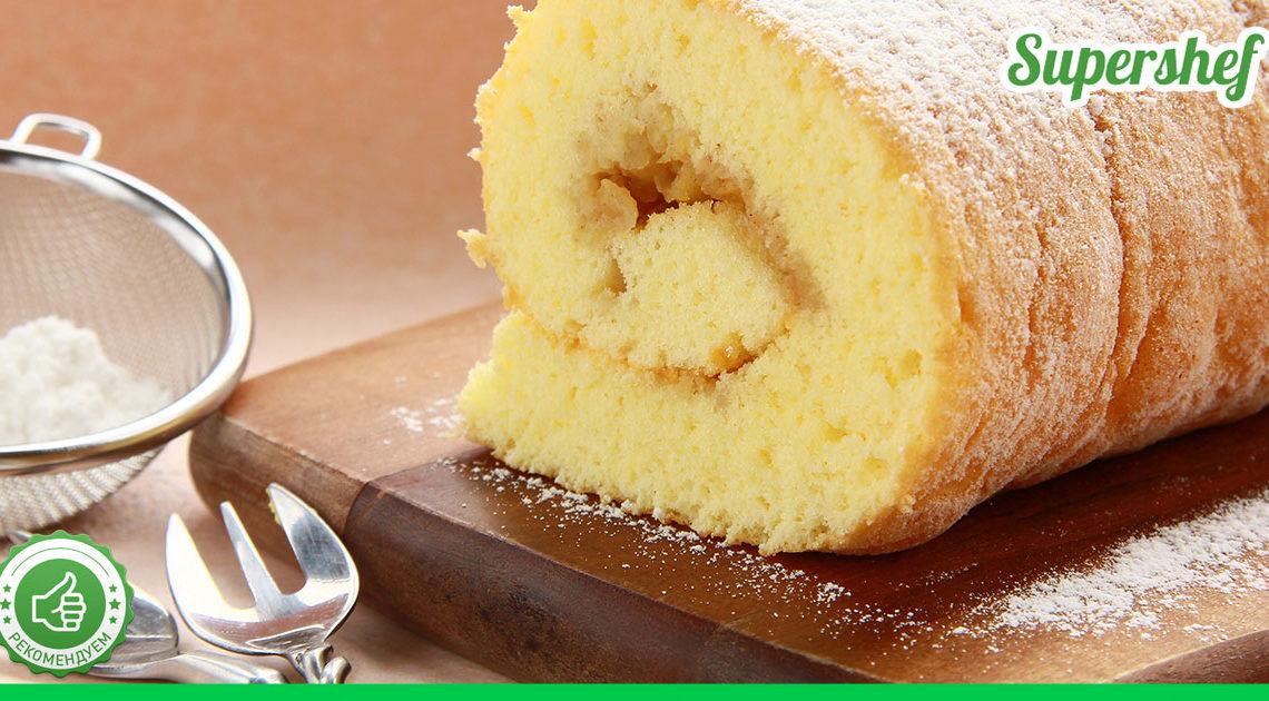 Как приготовить самый пышный и нежный бисквит