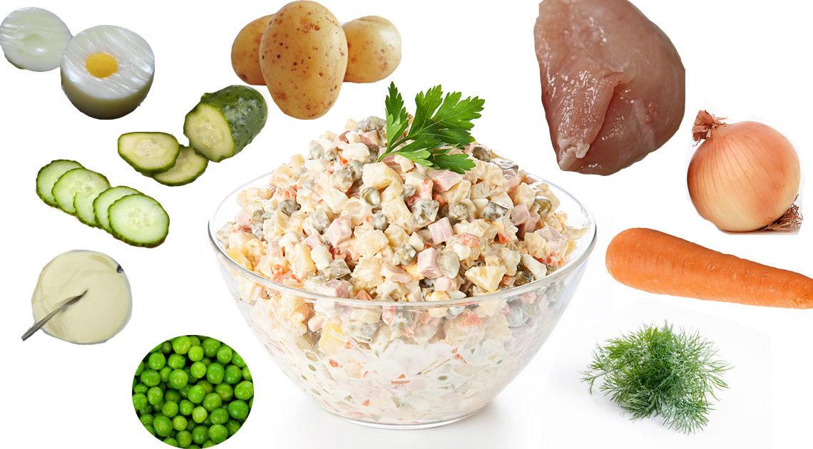 """Самый правильный рецепт приготовления новогоднего салата """"Оливье"""""""