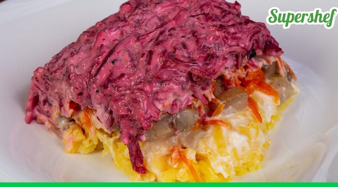 Классический рецепт салата Селедка под шубой — нежный и яркий одновременно