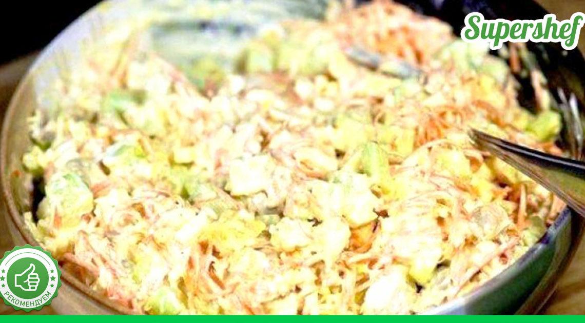 Безумно вкусный салатик с курицей и огурчиками по-корейски