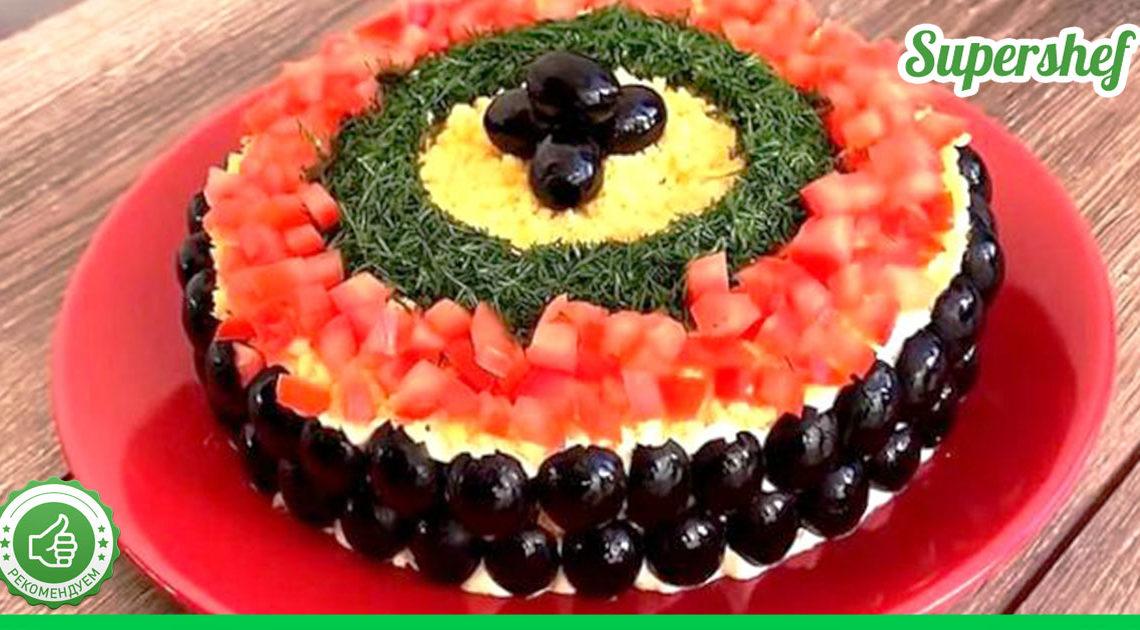 """Новогодний салат """"Карнавальная ночь"""" — настоящее украшение праздничного стола!"""