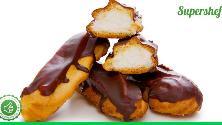 Как приготовить эклеры с масляным кремом и в шоколадной помадке по ГОСТу
