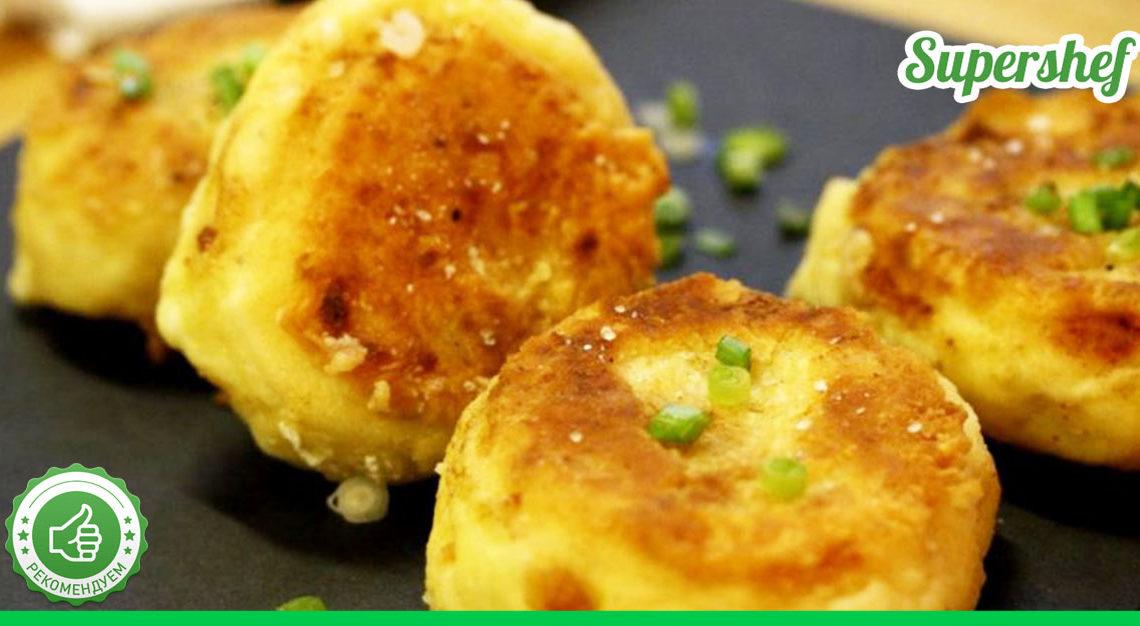 Невероятный рецепт вкусных биточков из картофеля с сыром и зеленым луком