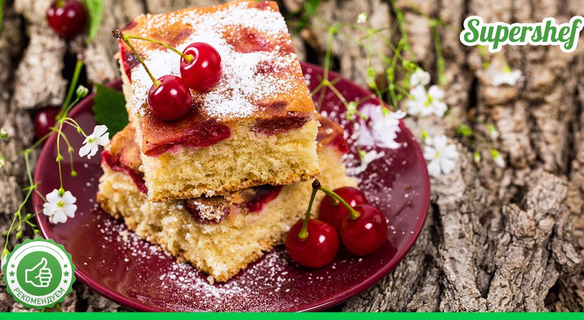 Необычный рецепт очень вкусной яблочной шарлотки с вишней