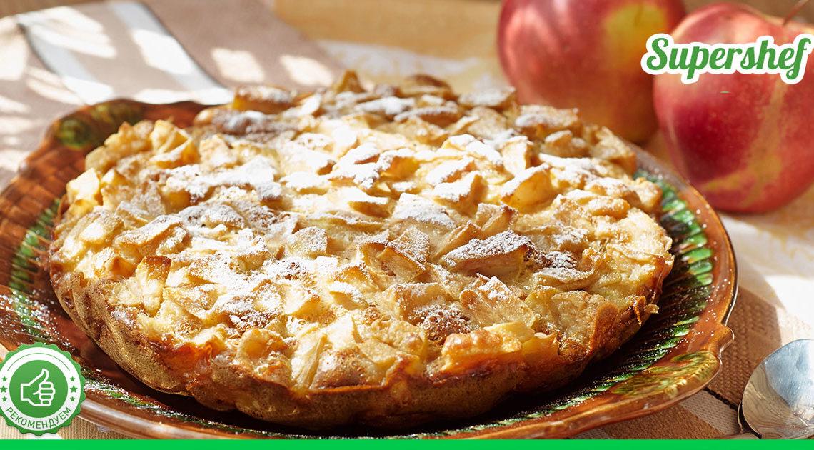 Лучше, чем шарлотка! Пирог из яблок с заварным кремом