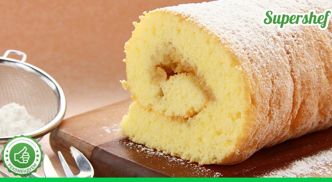 Как приготовить спонжевый бисквит для рулетов? Базовый рецепт