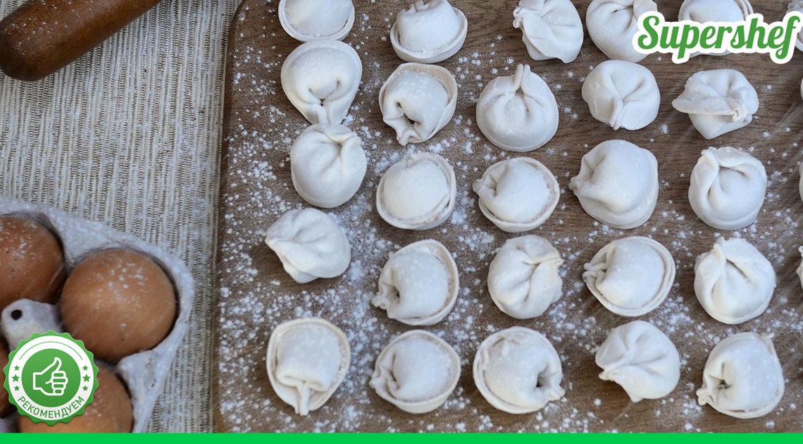 Любимое тесто для пельменей: нежное и не разлазится в кастрюле