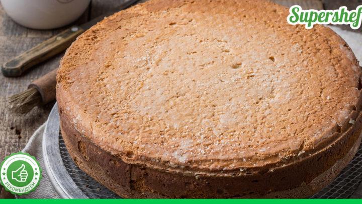 Рецепт быстрого шоколадного бисквита без добавления муки