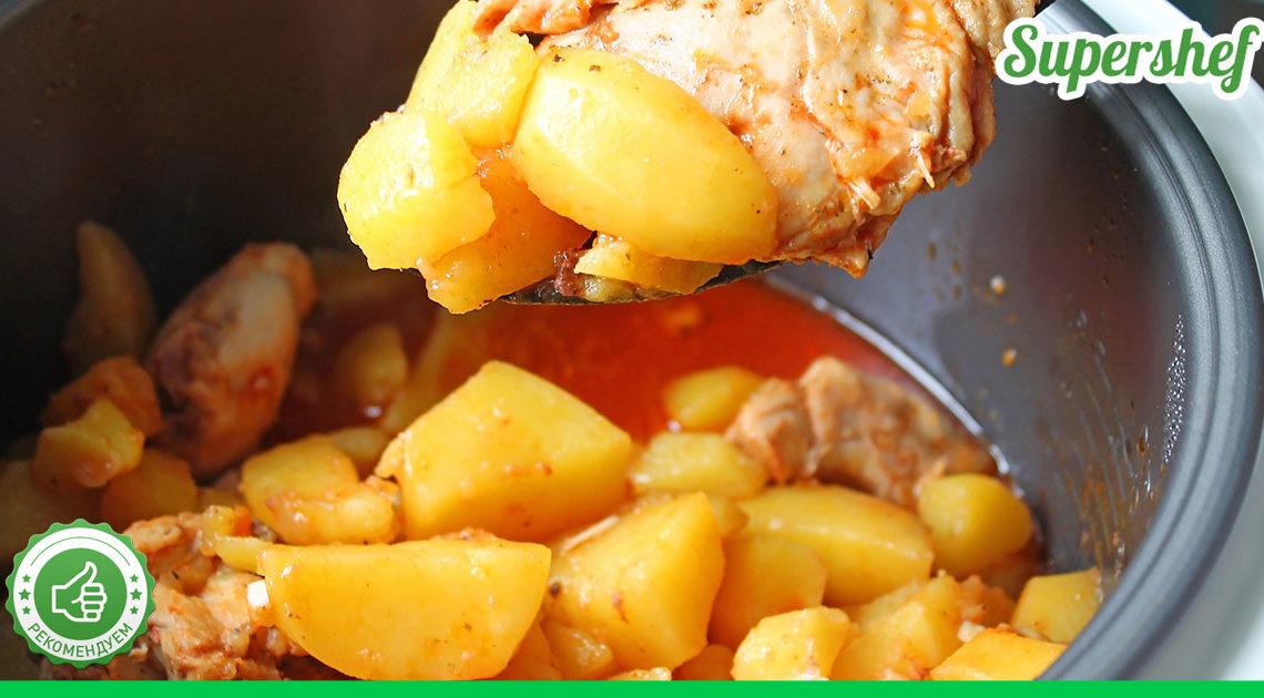 Рецепт вкусной картошки со свининой