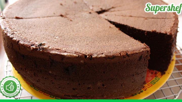 Рецепт мягкого и вкусного шоколадного бисквита