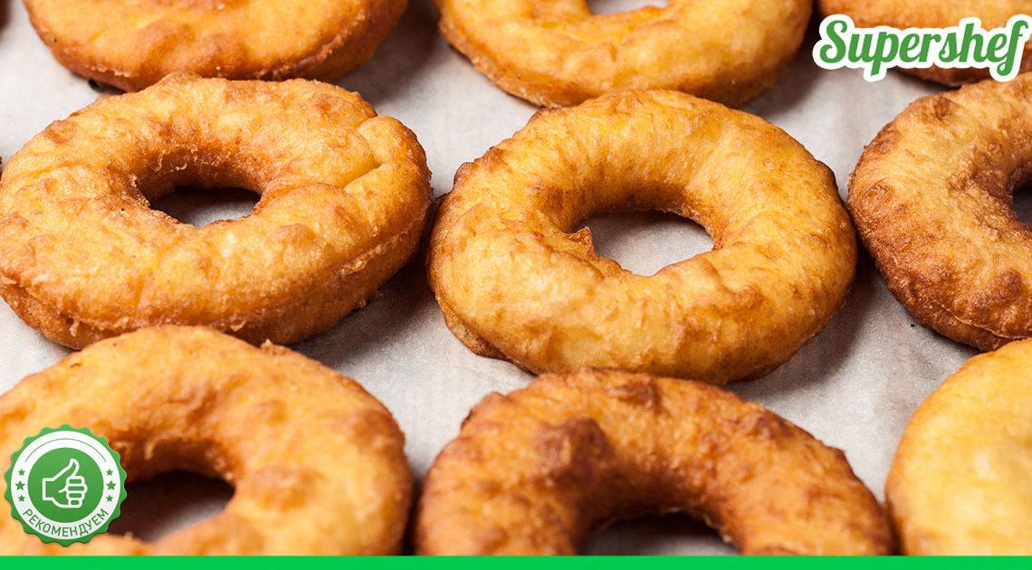 Рецепт вкусных пышных пончиков без молока и яиц