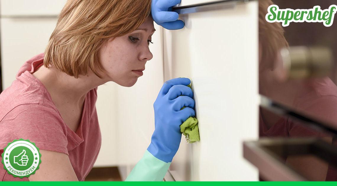 Самые быстрые способы очистки кухонных шкафчиков от жирного налета