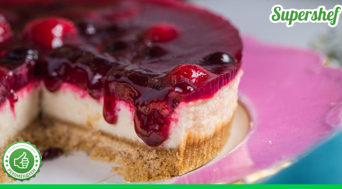 Рецепт творожного торта с вишней