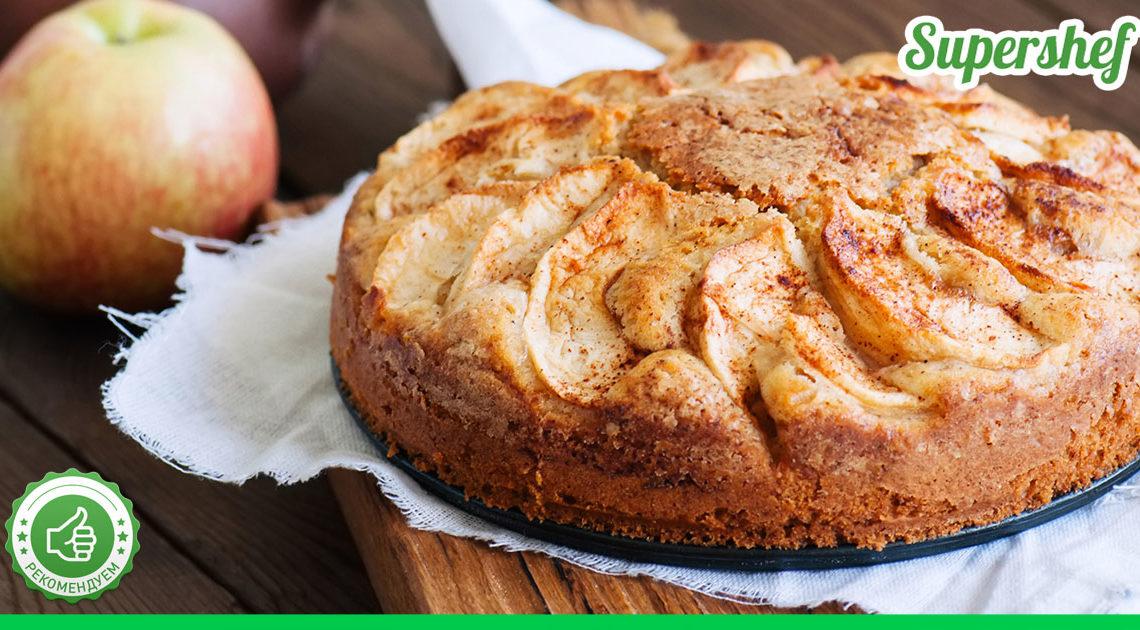 Рецепт яблочной шарлотки на творожном тесте